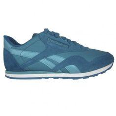 Reebok CL Nylon Womens Running Shoe M42937 Teal-Emerald-White