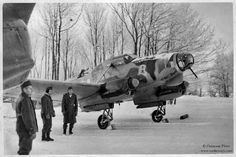 The Hungarian Focke-Wulf Fw-58 ready for start at the the Ilowskoje airfield in December 1942.