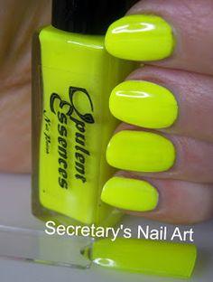 Secretary`s Nail Art: Opulent Essences - Taste The Rainbow Collection - Lemon