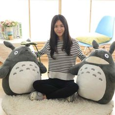 On Sale 30-55cm Cute wedding press doll children birthday girl Kids Toys Totoro doll Large size pillow Totoro plush toy doll