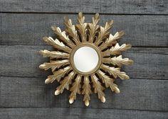 Gold Metal Sunburst Mirror  $24   |   Shop Lucketts