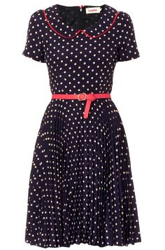 Louche Leanna Spot Collar Dress