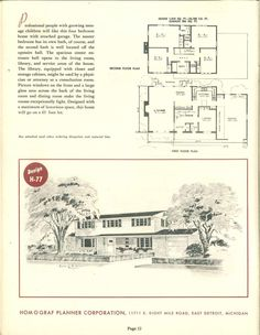 30 Prize Winning Homes : 1950 | VinTagE HOUSE PlanS~1950s | Pinterest | Home