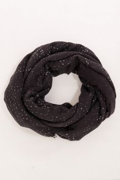 Brown infinity scarf :) would be so cute with a creme sweater.