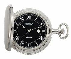 Gotham Men's Silver-Tone Polished Quartz Date Pocket Watch with Desktop Stand # GWC14070SB-ST Gotham. $99.95
