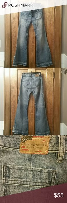 Ralph Lauren Retro Skinny Bell Bottom Jean -Retro IF YOU'D LIKE TO SEE THIS PIECE ON A MODEL LET ME KNOW Ralph Lauren Jeans Flare & Wide Leg