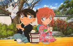 Conan and Haibara and also kaito kid