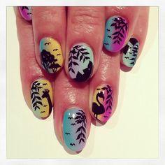 Tropical art nails (NailSalon AVARICE) http://nailsalonavarice.tumblr.com/