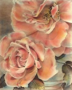Roses Hand Colored Print shabby roses  country chic by AlisaPaints, $100.00