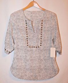 """NWT! 41Hawthorn for Stitch Fix """"Moni Abstract Chevron Stud Detail Blouse"""" Large #41Hawthorn #Blouse #Career"""