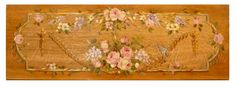 Aubusson Ornement on wood panel  ✿ Original paintings by Helen Flont