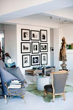Vicente Wolf's Manhattan Living Room   Rue