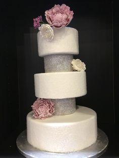 MCG Cake Design - San Antonio Cakes - Wedding cake with pink flowers