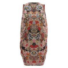 Mini Dress Patchwork Floral Draped Back Mini Dress  ALEXANDER MCQUEEN