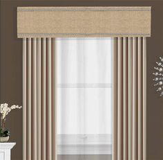 This nail head trimmed cornice board pelmet box valance can be used alone or as a finishing touch to your curtains or other window treatments. A custom cornice Box Valance, Pelmet Box, Valances & Cornices, Window Cornices, Window Coverings, Pelmets, Curtain Box, Curtain Pelmet, Valance Ideas