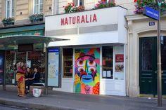 Sunday Street Art : Kashink - rue Cambronne - Paris 15 http://www.parisianshoegals.com/2016/01/sunday-street-art-kashink-rue-cambronne.html