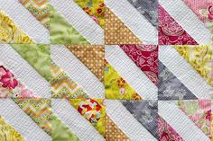 Fat Quarter Gang - Baby Bows Quilt tutorial by Made During Quiet Time