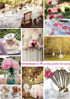 Garden tea party images.  ... around the back a pretty floral theme with white roses and a vintage outdoor table and chair set for when the ladies come round for high tea.  — listlessonlove.wordpress.com