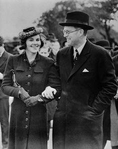 Rosemary Kennedy and father Joseph Patrick (Joe) Kennedy Sr,