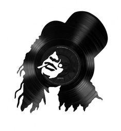 Cut Vinyl LP Portraits of Famous Musicians | Man Made DIY | Crafts for Men | Keywords: culture, music, art, album