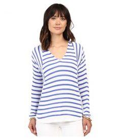 Lilly Pulitzer Stasia Sweater (Iris Blue Serene Stripe) Women's Sweater