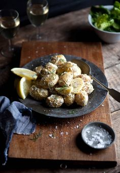 Warm new potato salad with lemon and dill