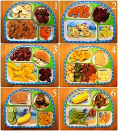 toddler meal inspiration.  Could replace a few things for some higher nutrient values, but not too shabby!
