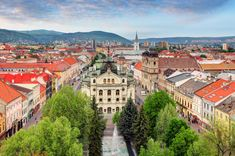 Panoramic City View Kosice Slovakia View Stock Photo (Edit Now) 1348275233 Places In Europe, Tourist Places, Europe Europe, Chateau Medieval, Voyage Europe, Bratislava, Cool Places To Visit, Night Life, Paris Skyline