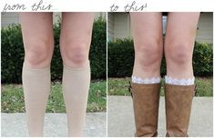 tut for easy lace boot socks.....yes...