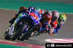 """8,273 Likes, 17 Comments - Valentino Rossi  (@valeyellow46br) on Instagram: """"     /// #Repost @desmodovi04 ・・・ Great race ... #qatargp #andreadovizioso #ad04 #forzaducati…"""""""