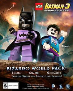 Join the ranks of the Bizarro League and help save their backwards planet Htrae in the latest Bizarro World! Lego Batman 3, Lego Dc, Marvel Dc, Lego Marvel Super Heroes, Gotham, Dc Comics, Lego Videos, Lego Group, Lego News