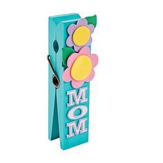 Mom Clothespin Note Holder Craft Kit - OrientalTrading.com