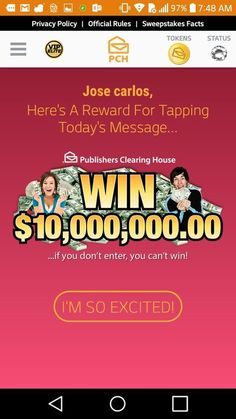 This Pin was discovered by Jose carlos gomez. Discover (and save!) your own Pins on 2058 E Wildermuth Ave Tempe Az Instant Win Sweepstakes, Online Sweepstakes, Lotto Winning Numbers, Lotto Numbers, Pch Dream Home, Lottery Winner, Lottery Tickets, Play Lottery, 10 Million Dollars
