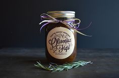 Oliveaux Figs reached out to me in need of a logo & label design for their canned figs to sell at farmer's markets in Louisiana. Label Design, Package Design, Logo Design, Packaging Design Inspiration, Figs, Candle Jars, Victorious, Things To Sell