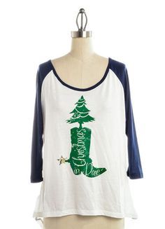 Judith March Christmas in Dixie Baseball Tee