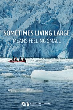We're told to live large, but when you gaze up at towering glaciers you feel something new. You feel small. Witness the wonder, beauty and scale of the natural world with Princess Cruises and come back new.