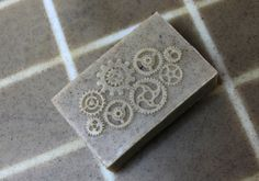 Steam-Punk soap made with an impression mat