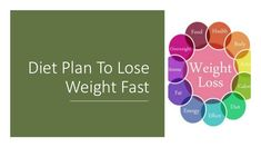 Diet Plan To Lose Weight Fast