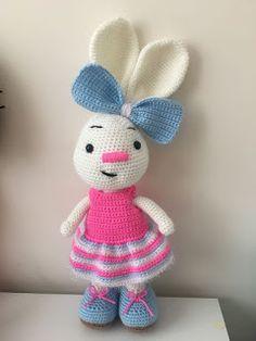 Domain Default page Crochet Rope, Crochet Dolls, Free Crochet, Knit Crochet, Amigurumi For Beginners, Knitted Baby Clothes, Easter Crochet, Cute Bunny, Amigurumi Doll