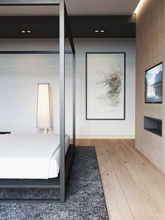 Stunning master bedroom suites to inspire the design of your own bedroom sanctuary. Bedroom Lamps Design, Hotel Room Design, Master Bedroom Design, Home Decor Bedroom, Bedroom Designs, Minimalist Bedroom, Modern Bedroom, Bedroom Layouts, Luxurious Bedrooms