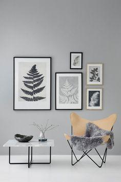 Die Designerin Pernille Folcarelli fertigt botanische Grafikprints. Feine Federn, Blätter und Äste - einfache Motive, inspiriert von der Natur Dänemarks.