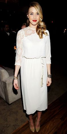 Lace Dress  Whitney Port - Look of the Day - InStyle
