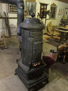 antique Elmhurst stove, I no longer have mine, it was a lovely stove but, now, I have a real fireplace and I truly love it.