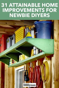 Diy Storage Shelves, Garage Shelving, Garage Shelf, Storage Ideas, Barn Storage, Diy Storage Shed, Creative Storage, Tool Storage, Craft Storage