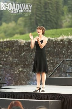 Amy Miller welcomes the audience at Transcendence Theatre Company's Broadway Under The Stars in Jack London State Park - Sonoma, Napa, Wine Country http://www.transcendencetheatre.org/ Photo By Ray Mabry