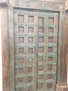 Antique Doors Floral Patina Vintage Indian Architecture Old
