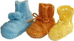 a71c61ebee3 zapatitos para bebé tejidos en dos agujas o palitos Zapatitos De Bebe  Tejidos