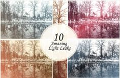 10 Premium Amazing B&W Light Leaks Photoshop Actions by ONESMFA, $15.00