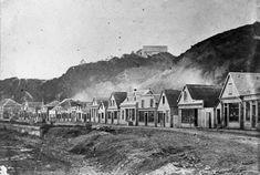 Lambton Quay, Wellington 1860