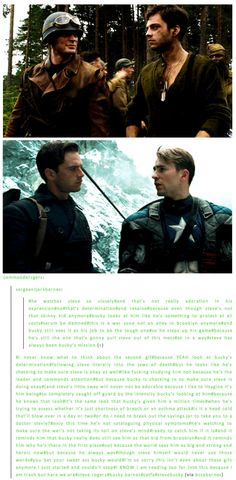 So in a way, Steve was always Bucky's mission…  That's okay, I didn't need my heart today anyway…
